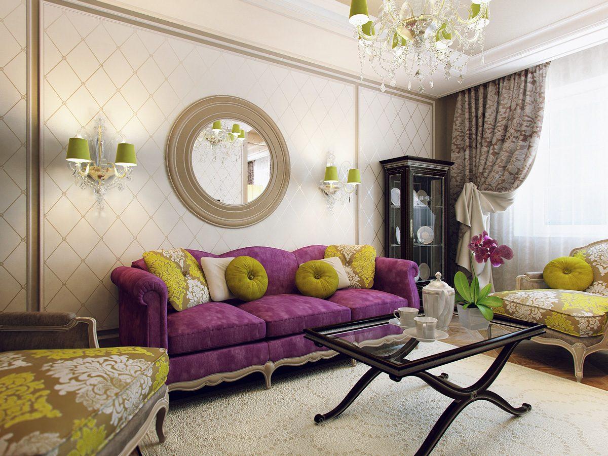 дизайн гостиной пастельный цвет стен