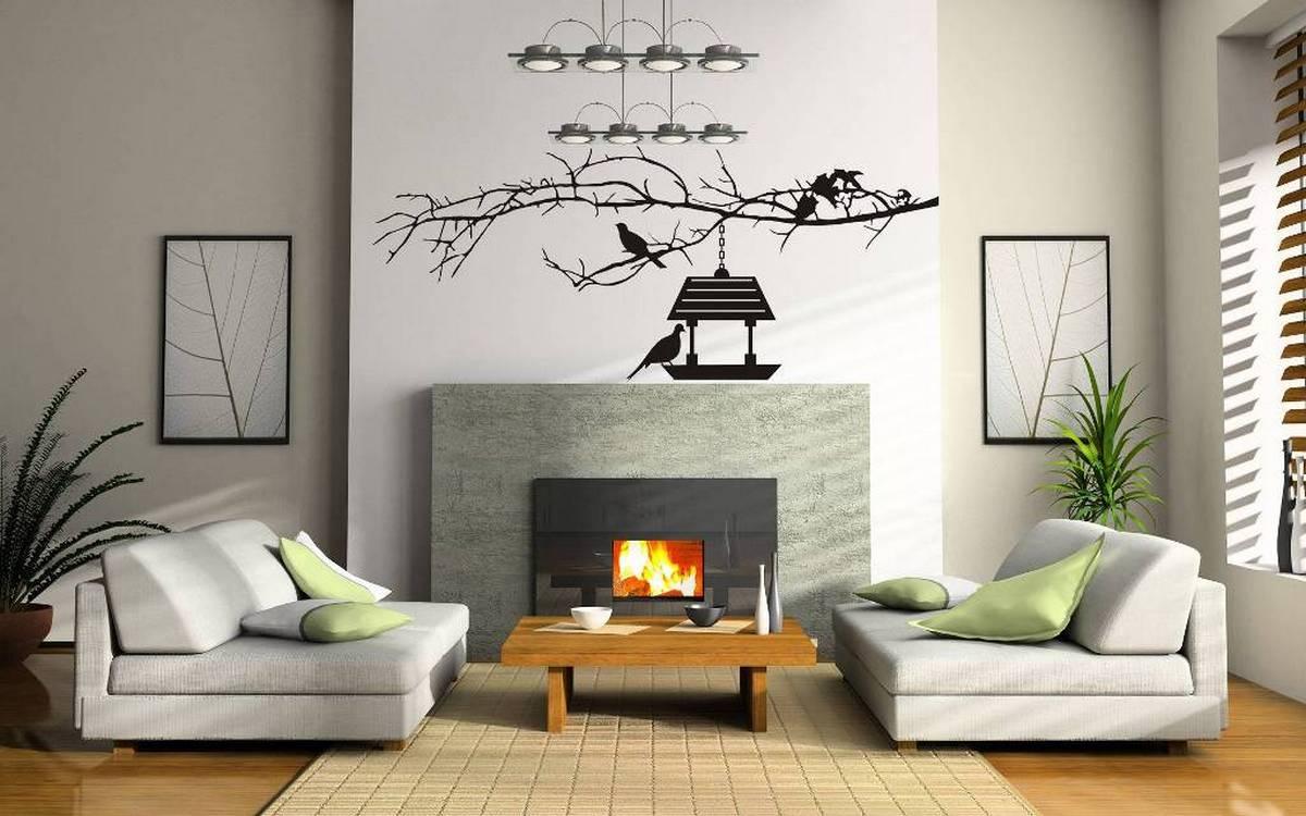 дизайн гостиной с двумя стенами фото