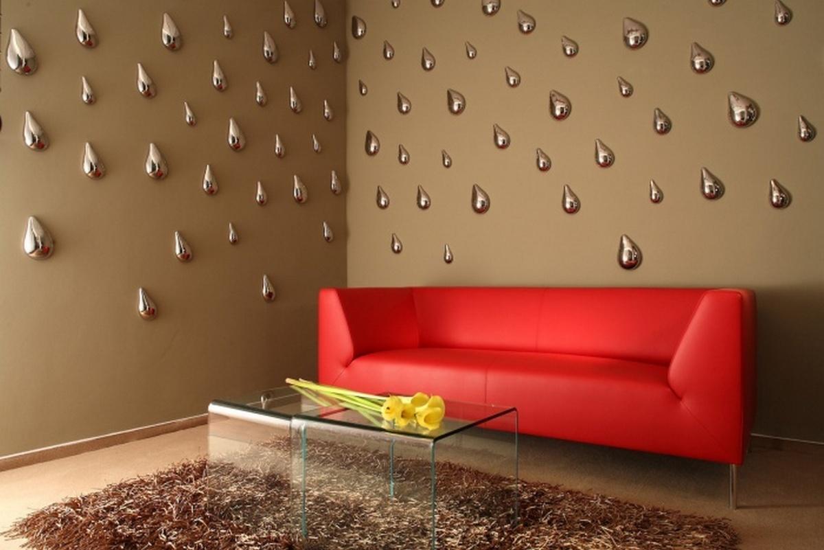 дизайн гостиной с двумя стенами необычное решение