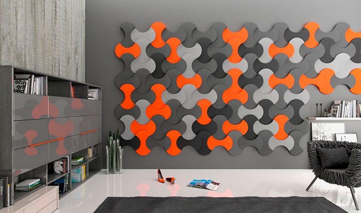 дизайн гостиной серые стены фото