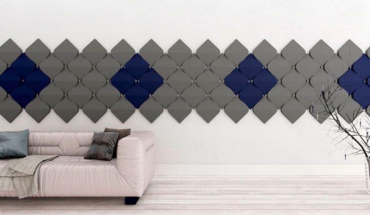 дизайн гостиной серые стены пример