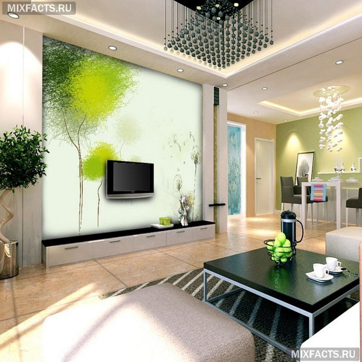 дизайн гостиной цвет стен фальшстена