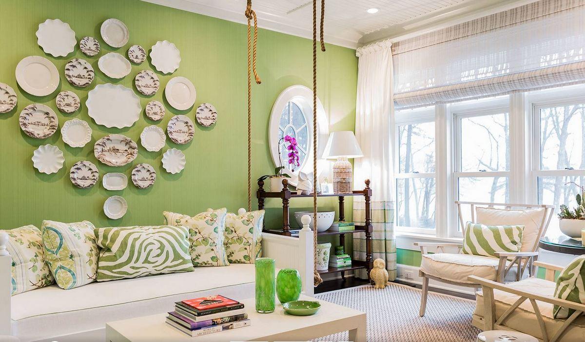 дизайн гостиной цвет стен цвет авокадо