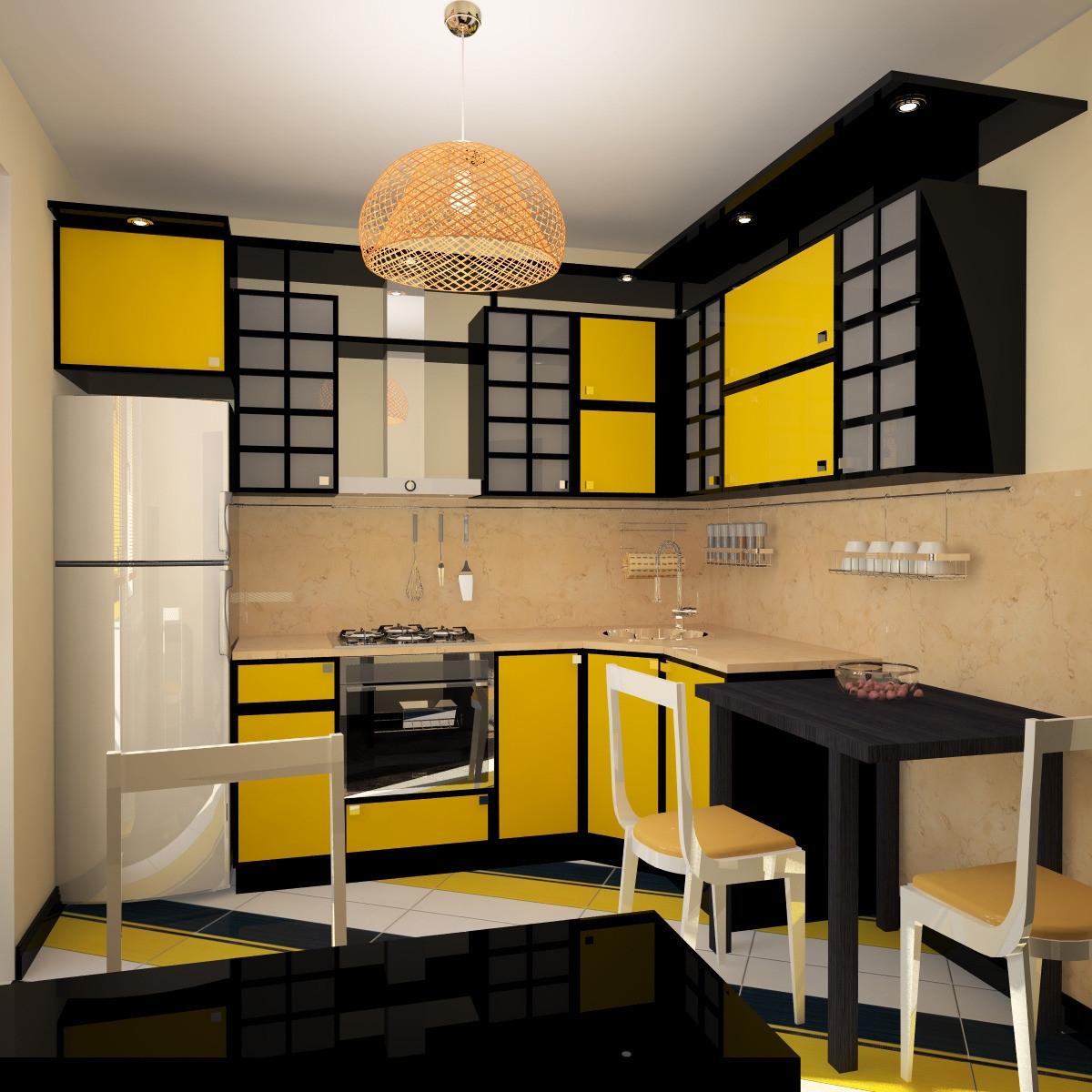 дизайн кухни в японском стиле фото пример