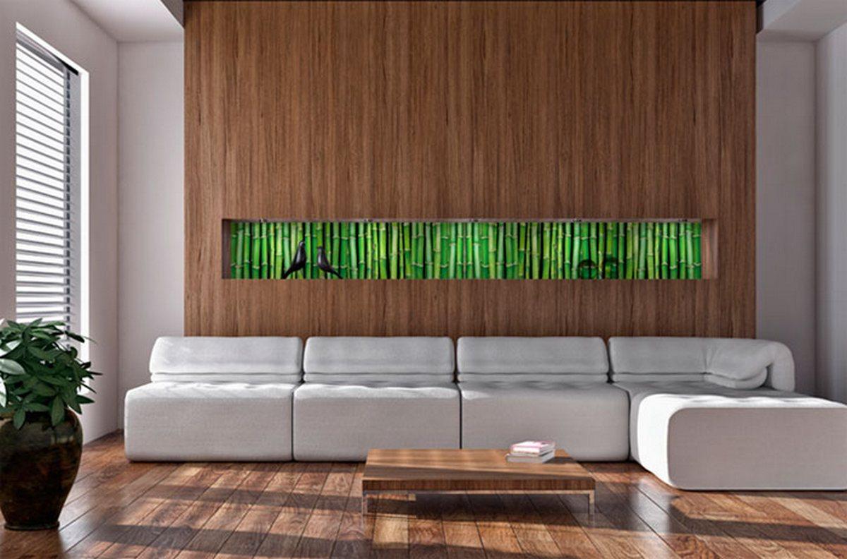 дизайн отделки стен гостиной стена