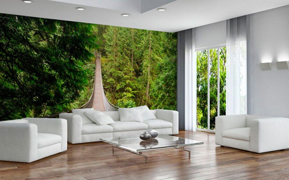 дизайн полок на стену в гостиную 3д обои