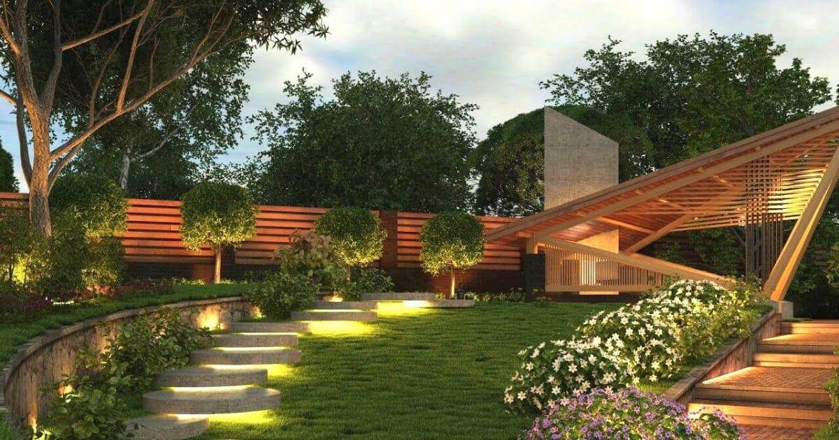 дизайн садового участка идеи для освещения