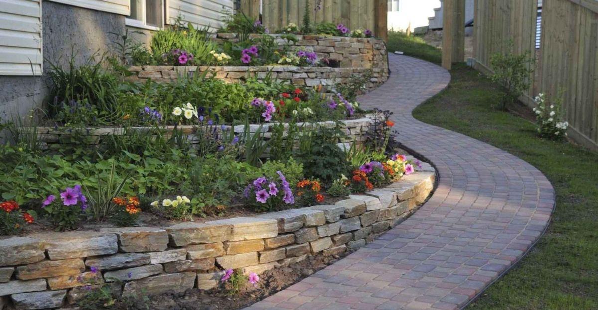 дизайн садового участка извилистая дорожка