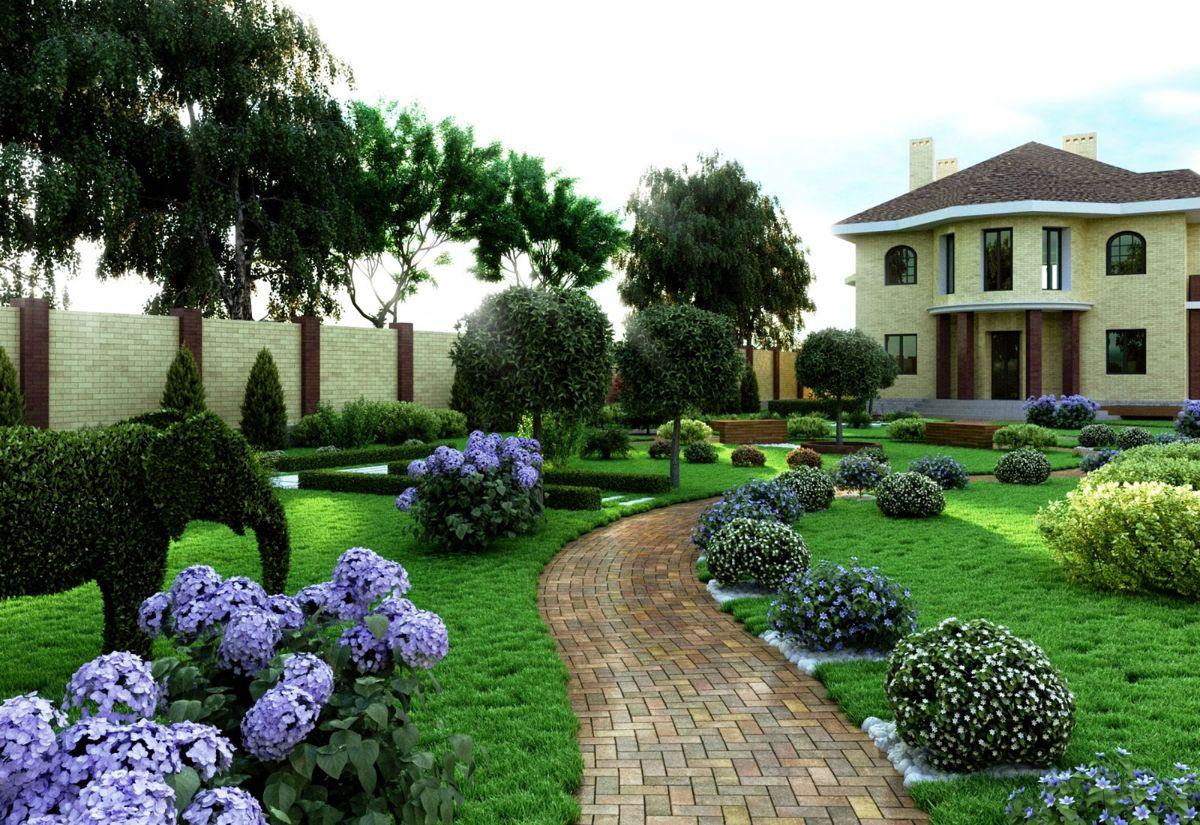 дизайн садового участка на большой площади