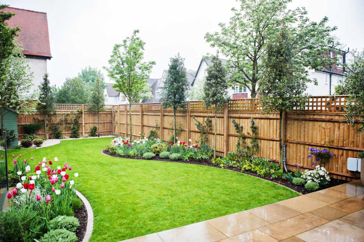 дизайн садового участка просторная территория