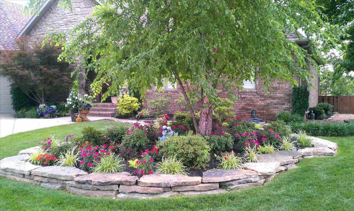 дизайн садового участка с каминами