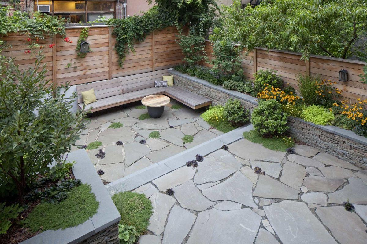 дизайн садового участка с зоной отдыха