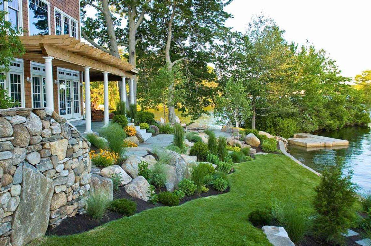 дизайн садового участка у дома