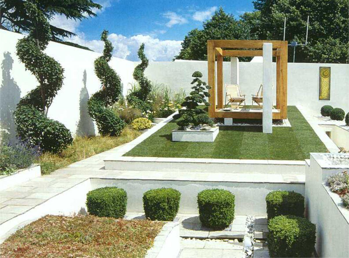 дизайн садового участка в минималистическом стиле