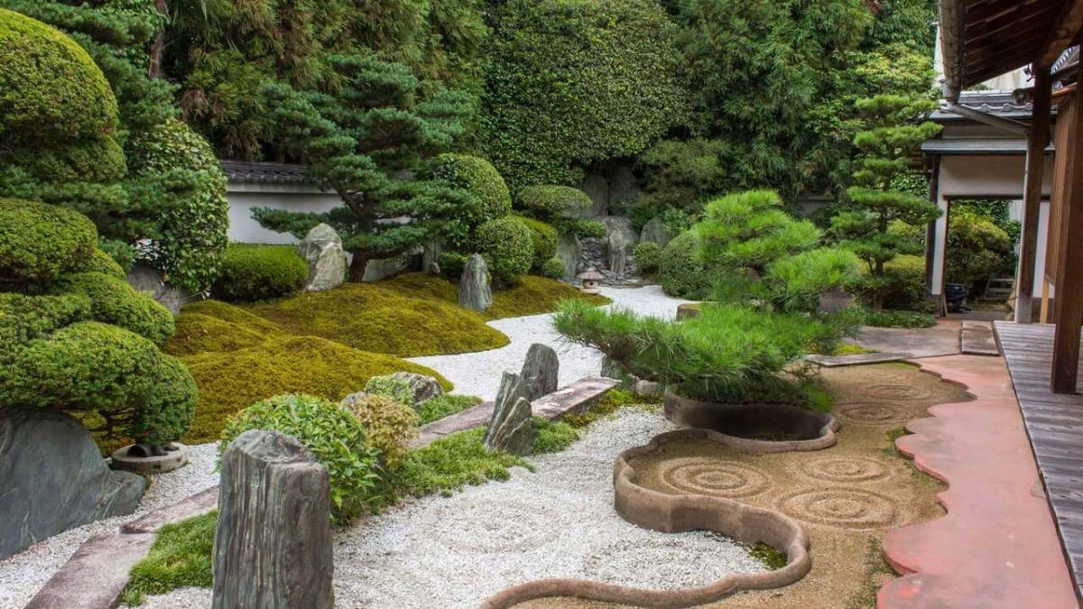 дизайн садового участка в японском стиле