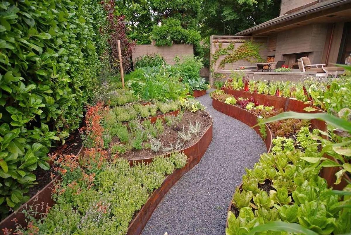 дизайн садового участка ярусное озеленение