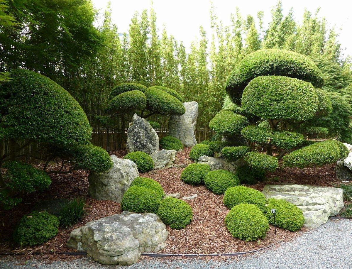 дизайн садового участка зелёный склон