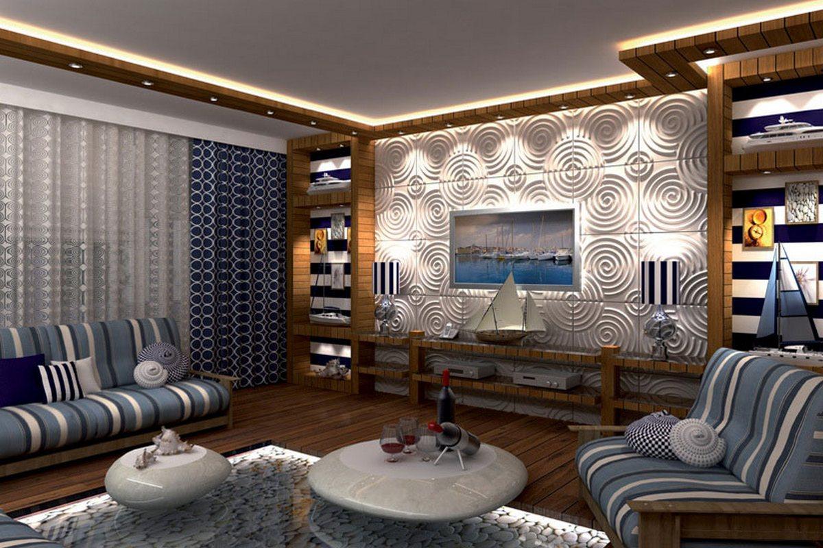 дизайн стен в гостиной фото современные идеи фото