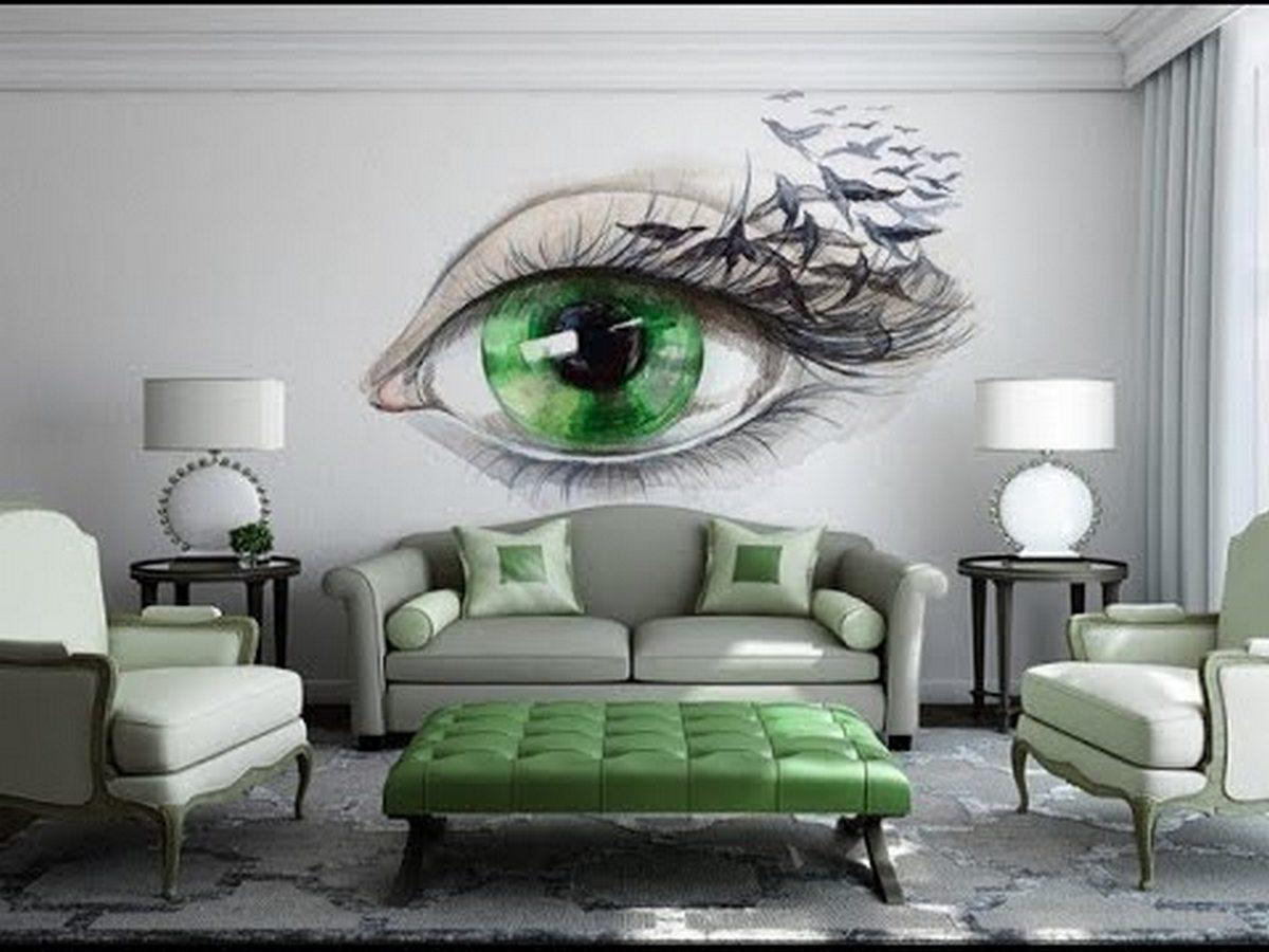 дизайн стен в гостиной фото современные идеи красивые обои