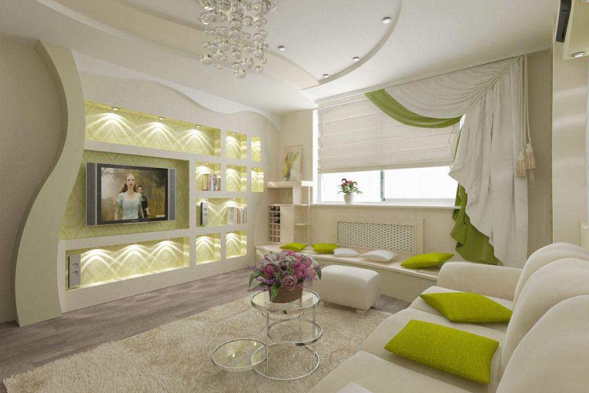 дизайн стен в гостиной фото современные идеи удачное воплощение