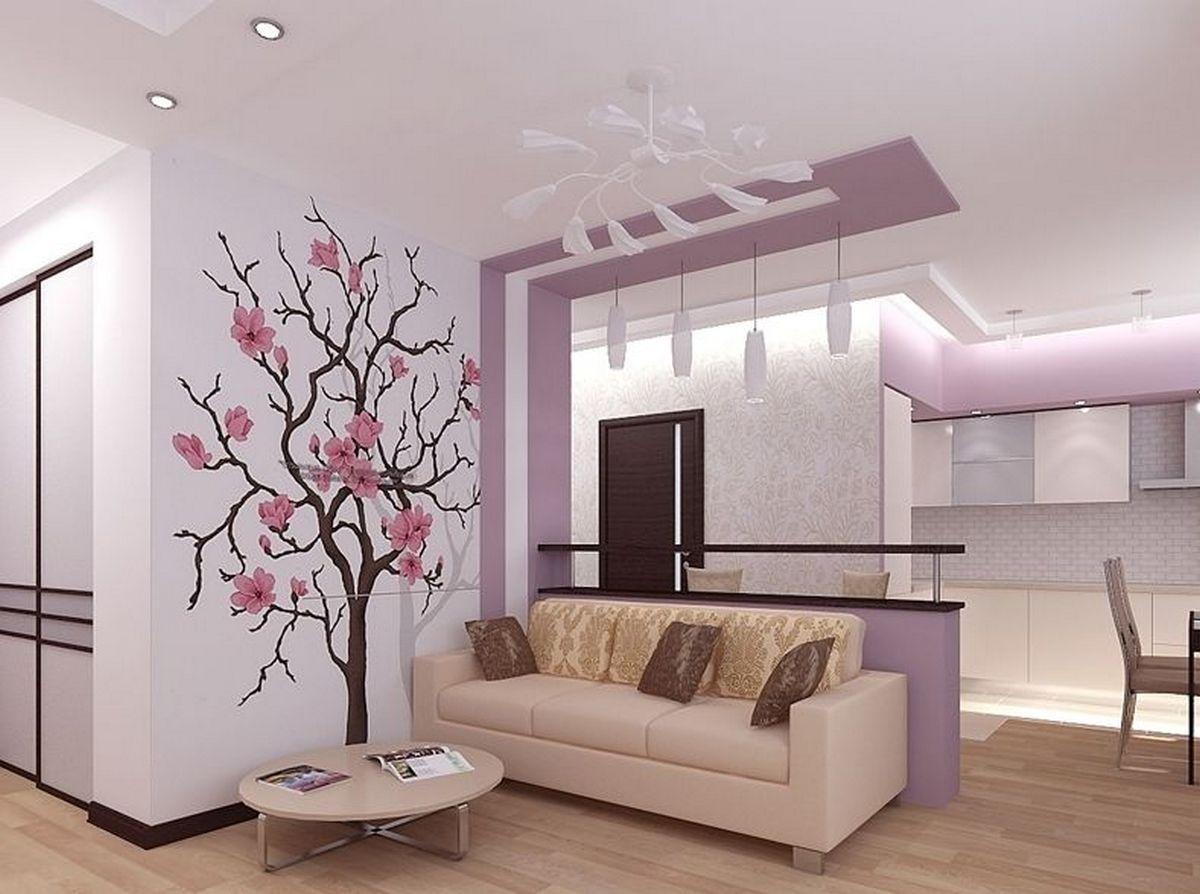 дизайн стен в гостиной фото современные идеи