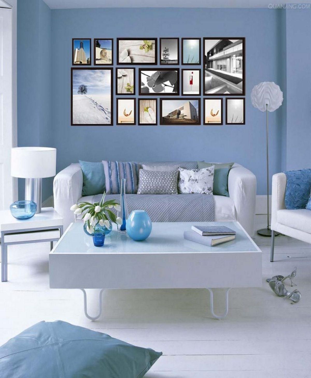 дизайн стен в гостиной обоями фото