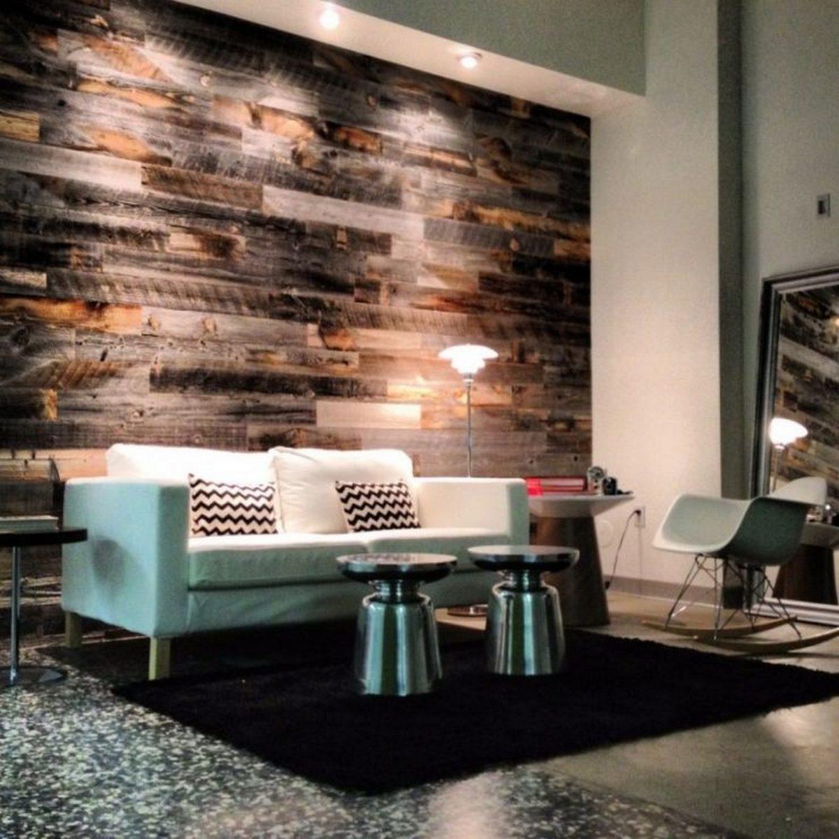 дизайн стен в гостиной обоями