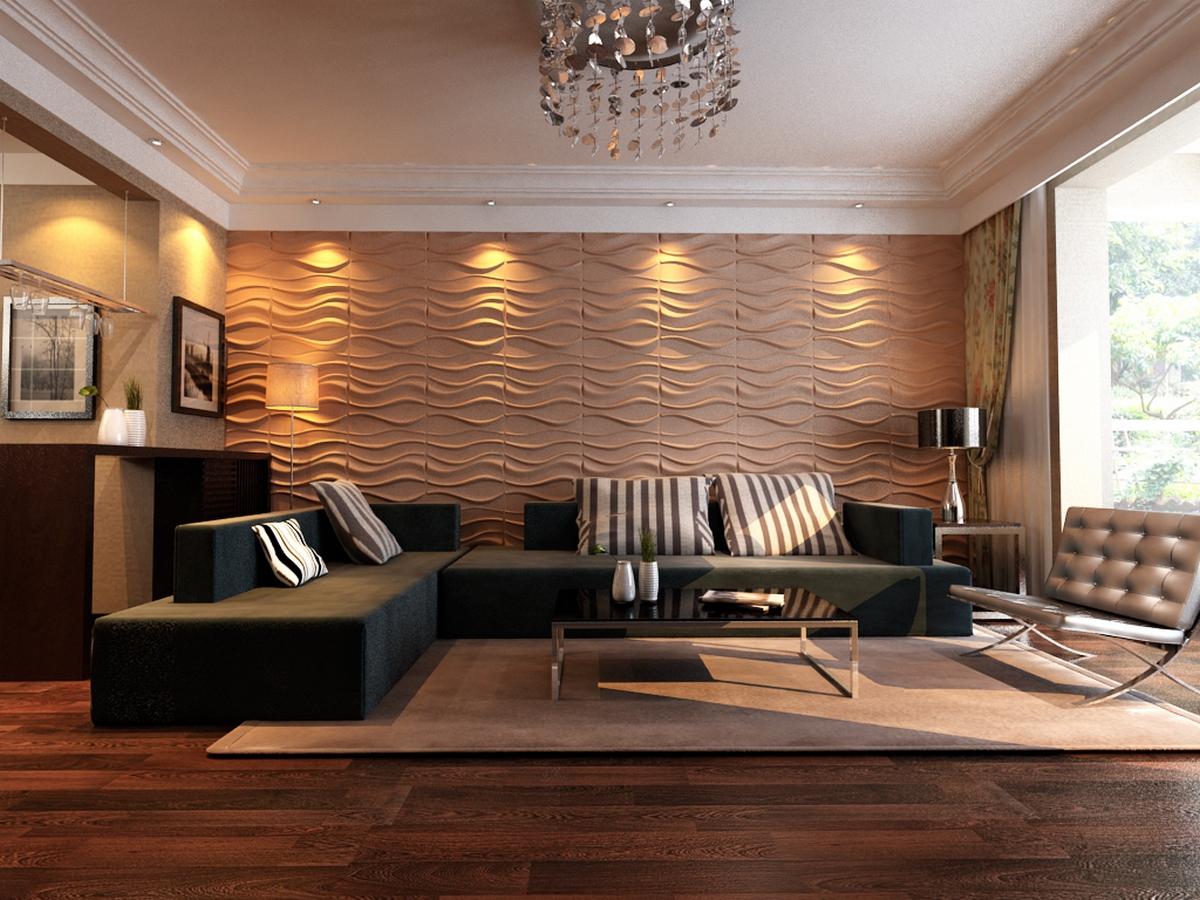 дизайн стены в гостиной фото пример