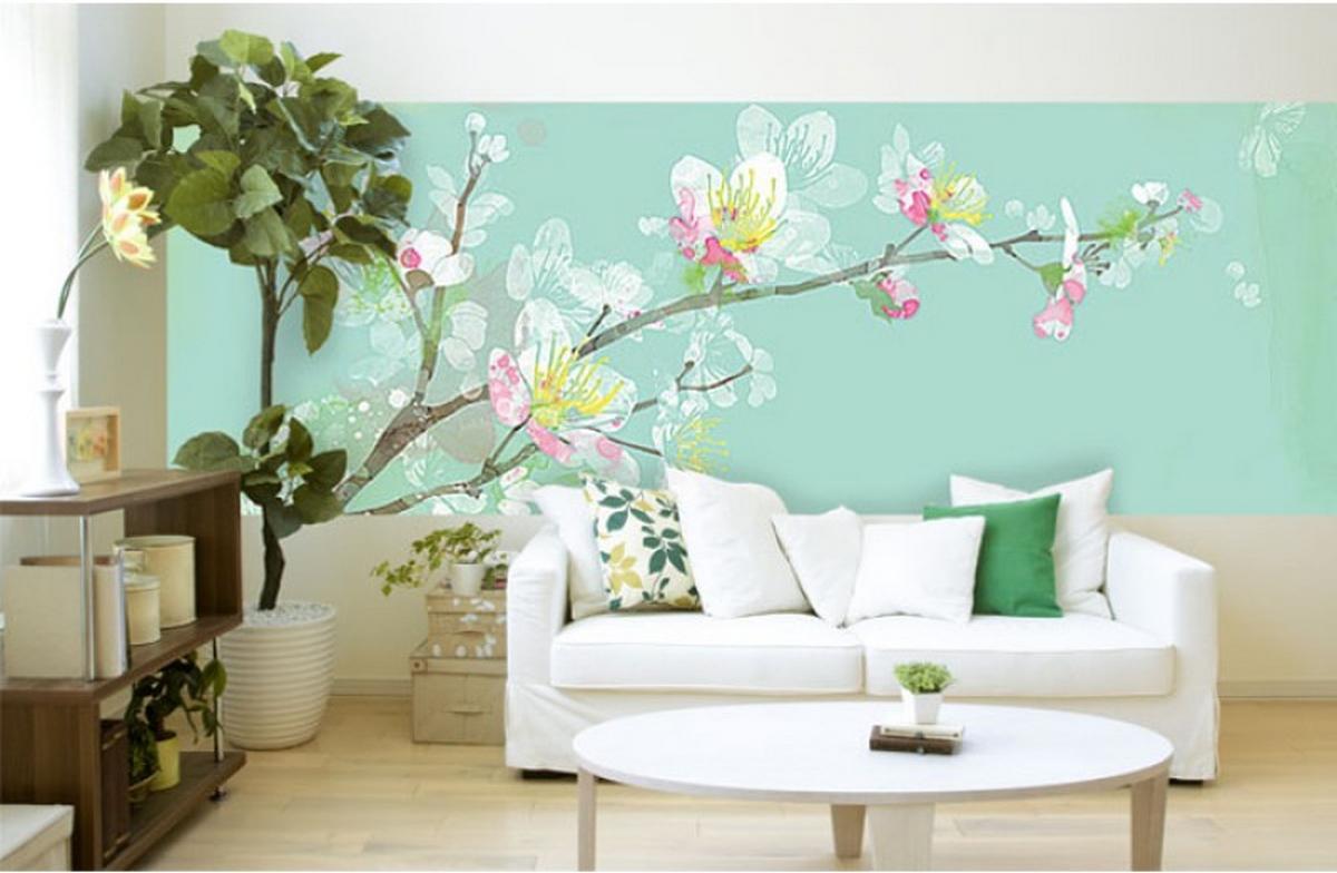 дизайн стены в гостиной фото