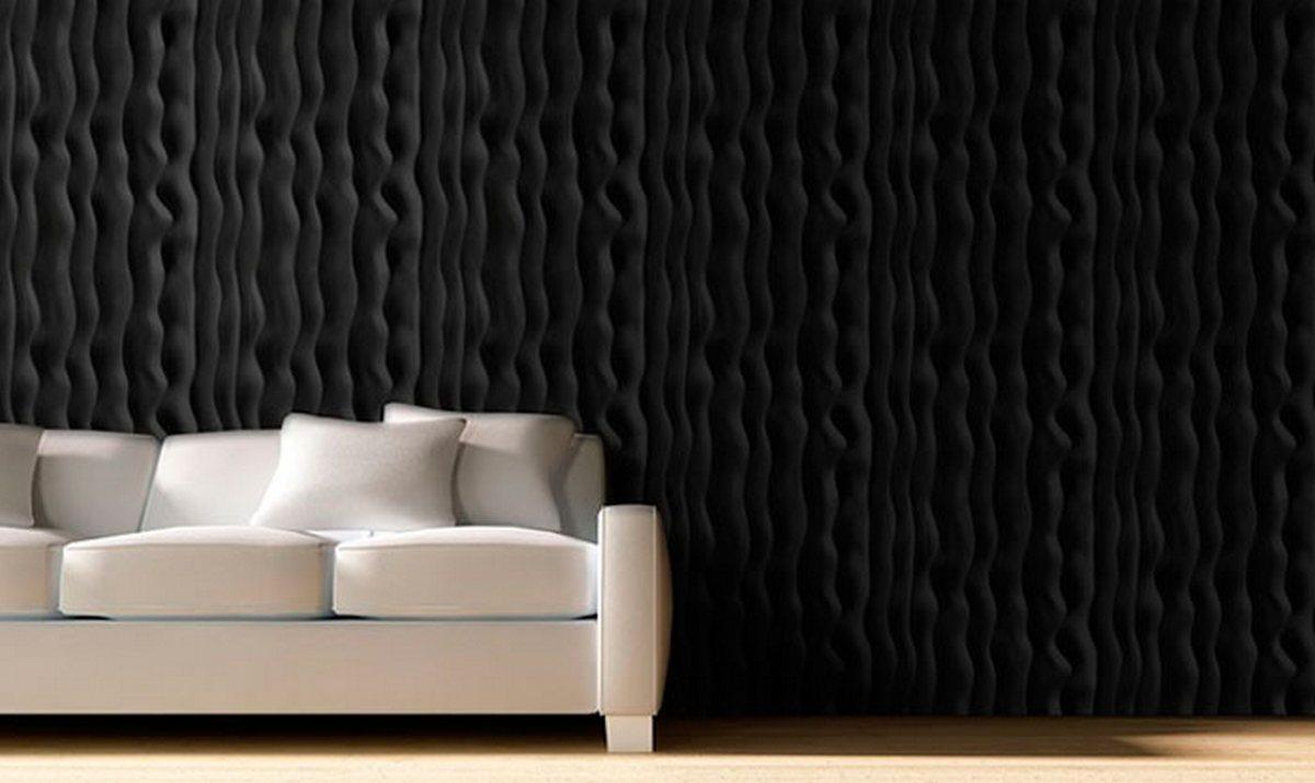 дизайн стены в гостиной над диваном фото