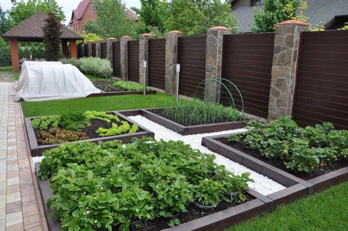 дизайн упрощённого садового участка