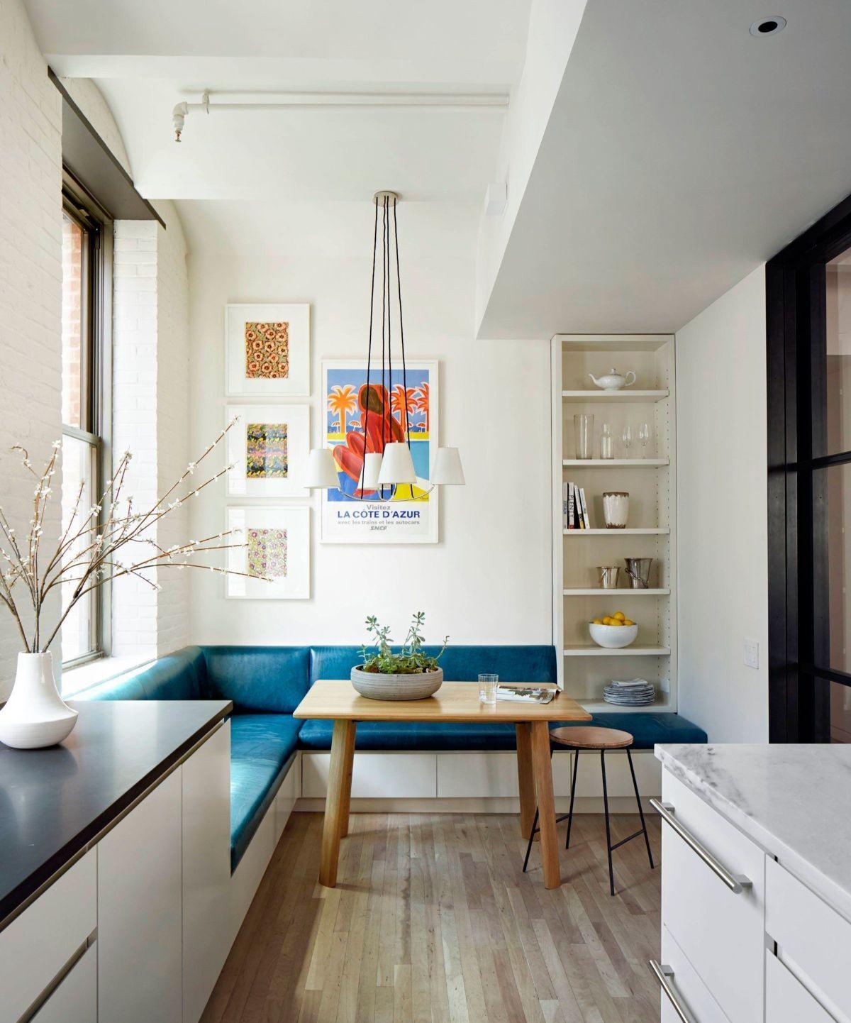 дизайн узкой кухни пример
