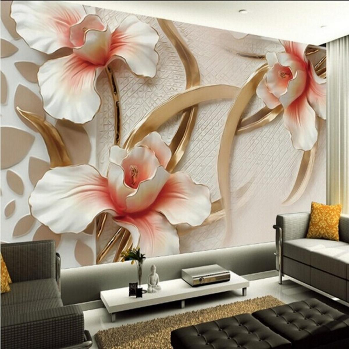 идеи дизайна стен в гостиной