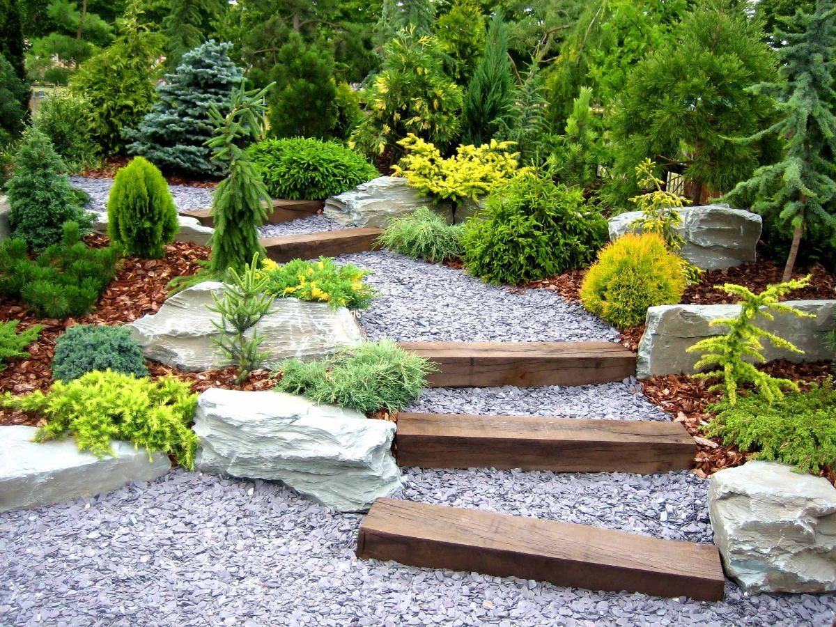 интересный дизайн садового участка пример