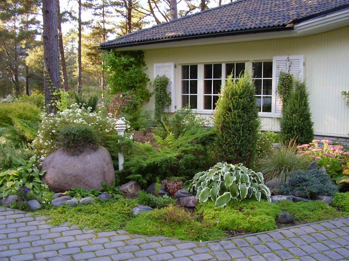 интересный дизайн садового участка