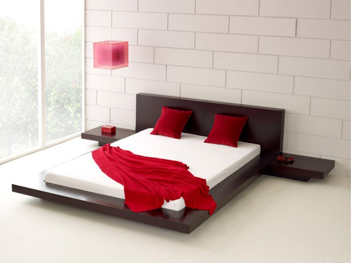 интерьер спальни в японском стиле светлый