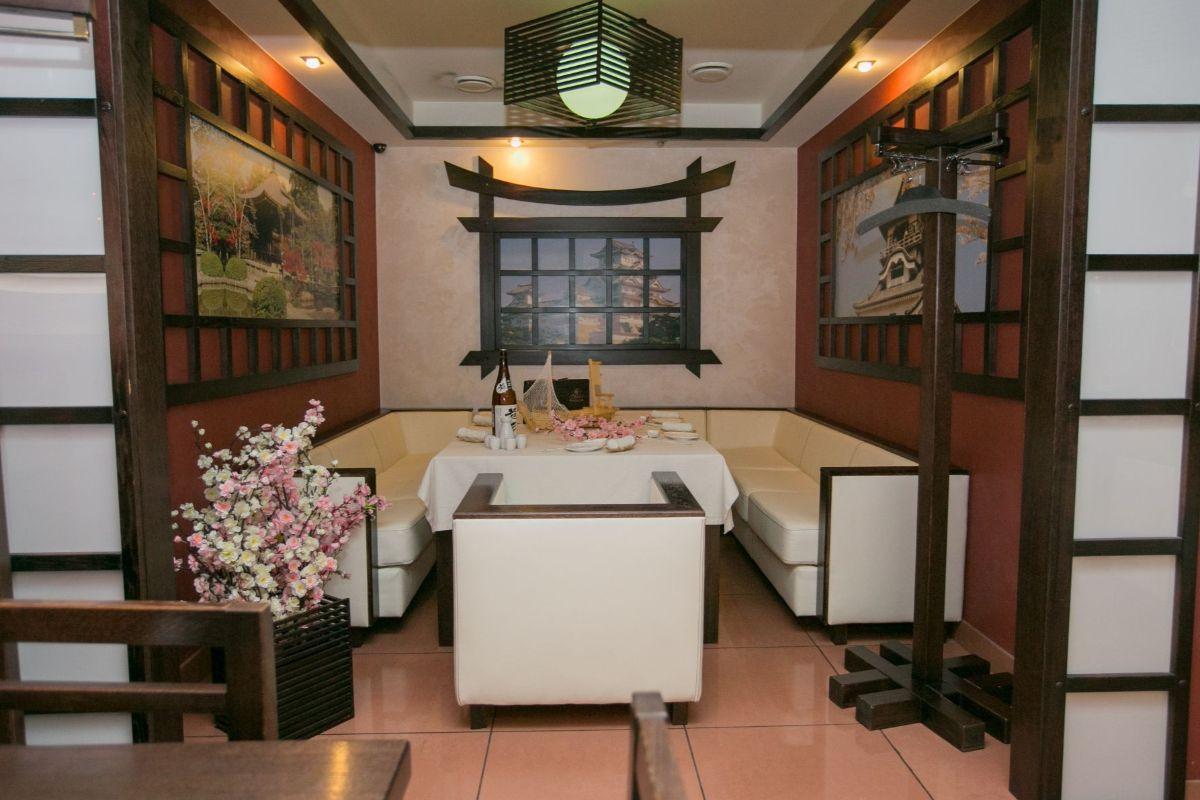интерьер в японском стиле обеденная зона