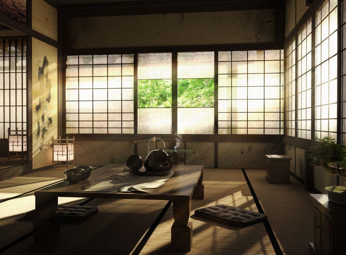 интерьер в японском стиле пример дизайна