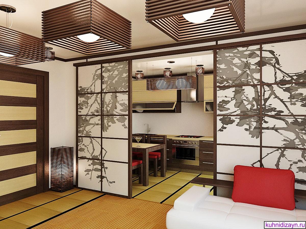 красивая кухня в японском стиле дизайн фото