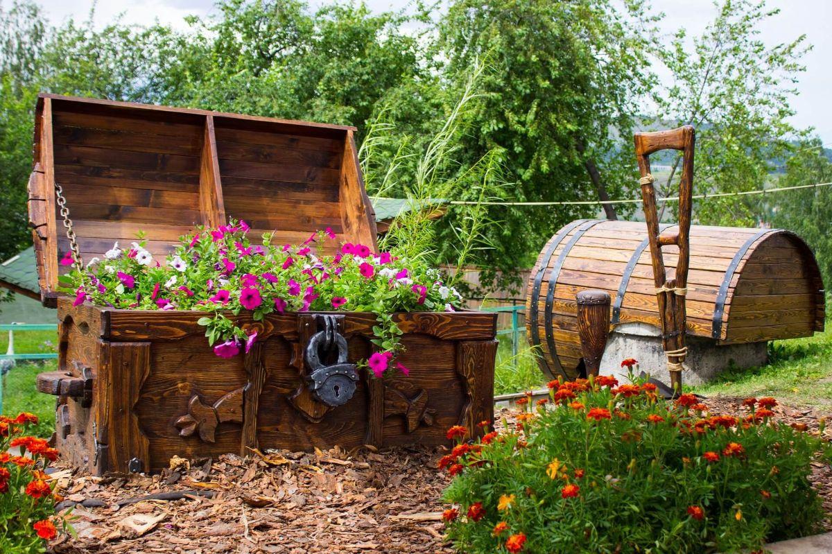 креативный дизайн садового участка