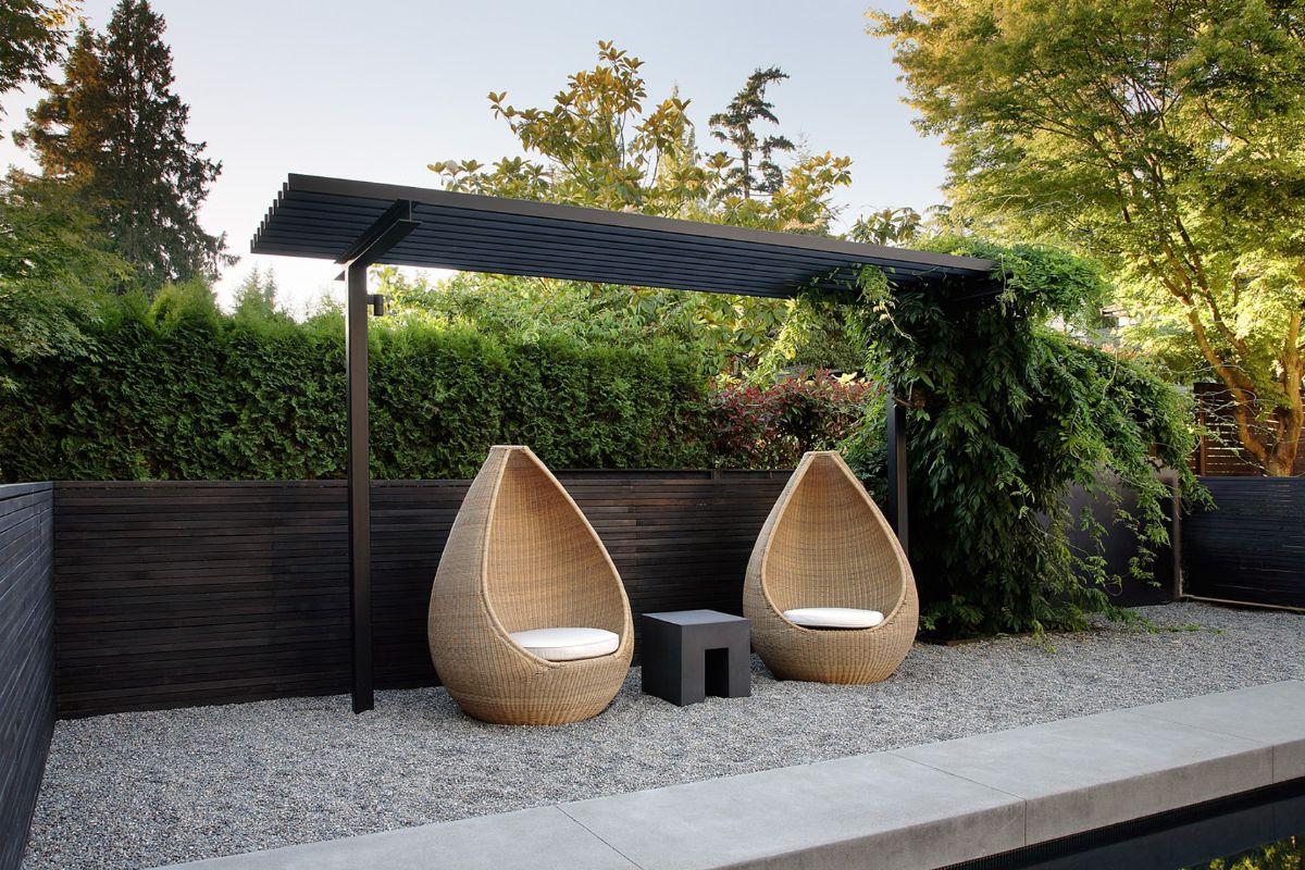 лаконичный дизайн садового участка