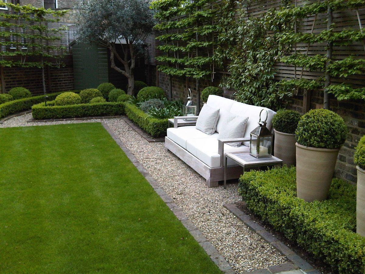минималистический дизайн садового участка