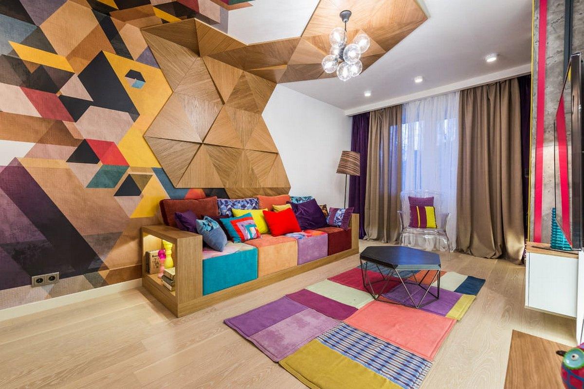 покраска стен в гостиной дизайн