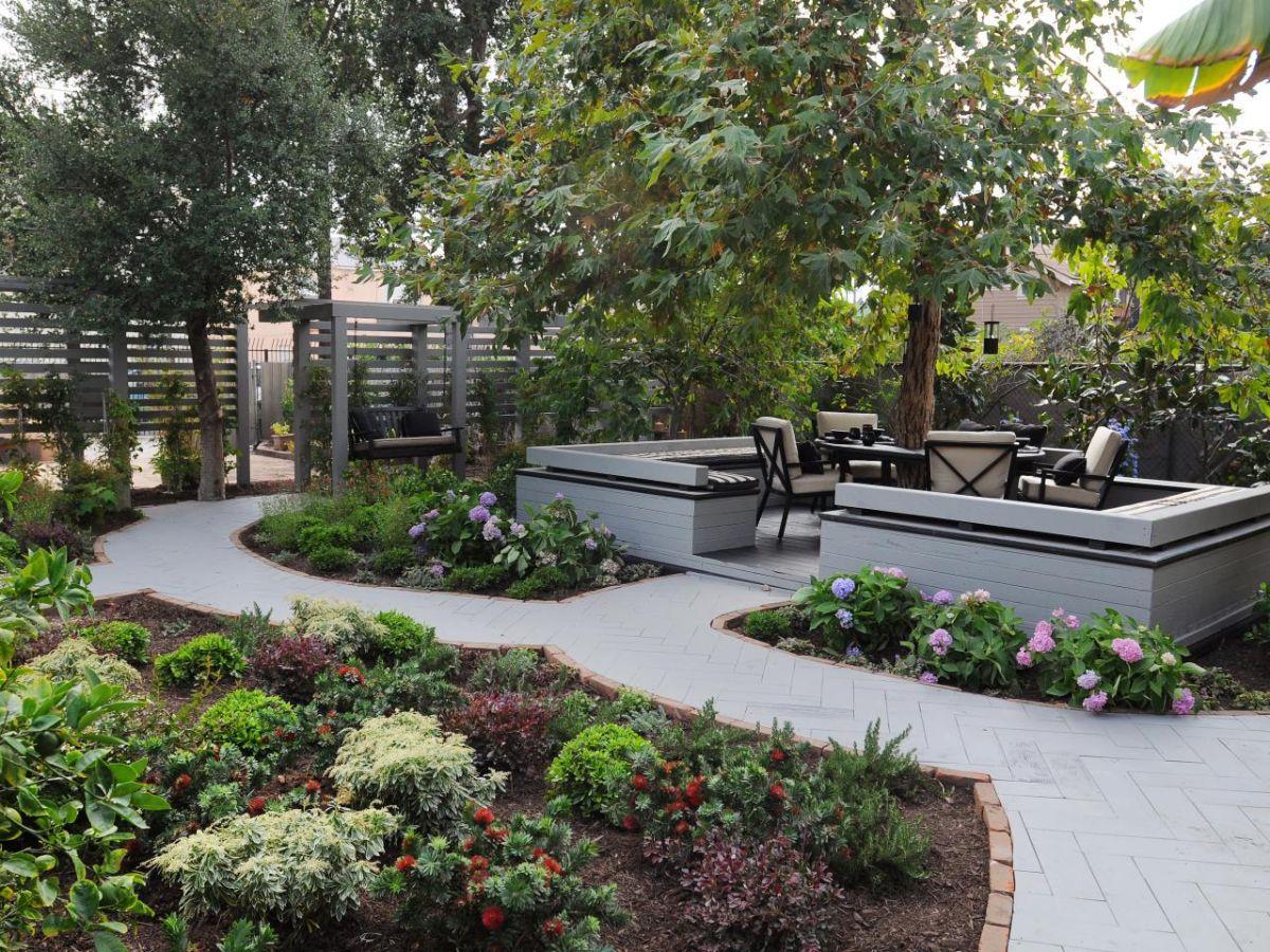 продуманный дизайн садового участка