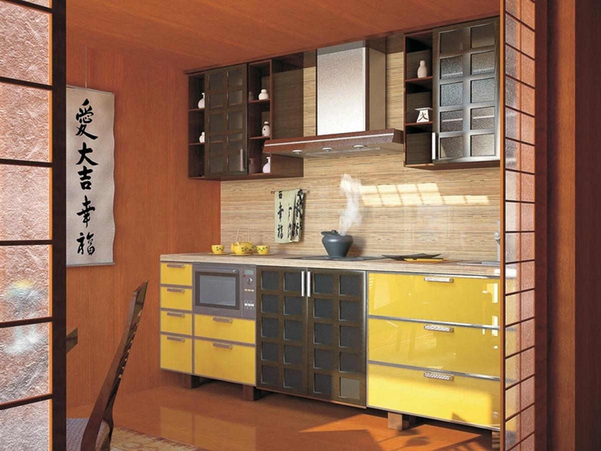 шторы для кухни в японском стиле