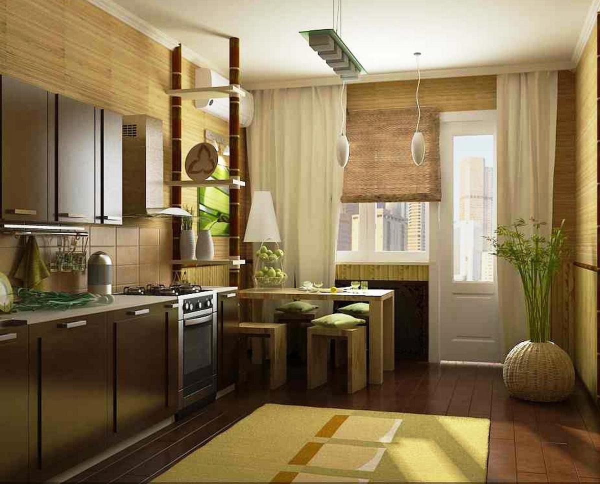 шторы на кухню в японском стиле