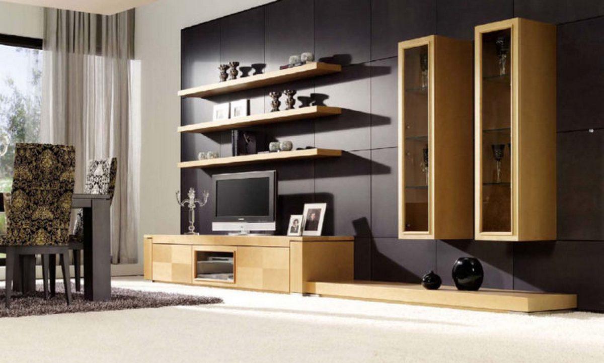 современный дизайн стен в гостиной на фото