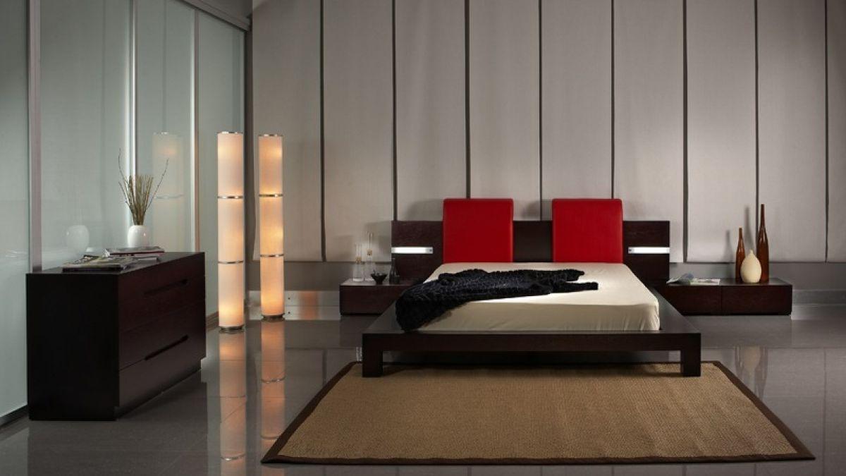 стильный интерьер гостиной в японском стиле