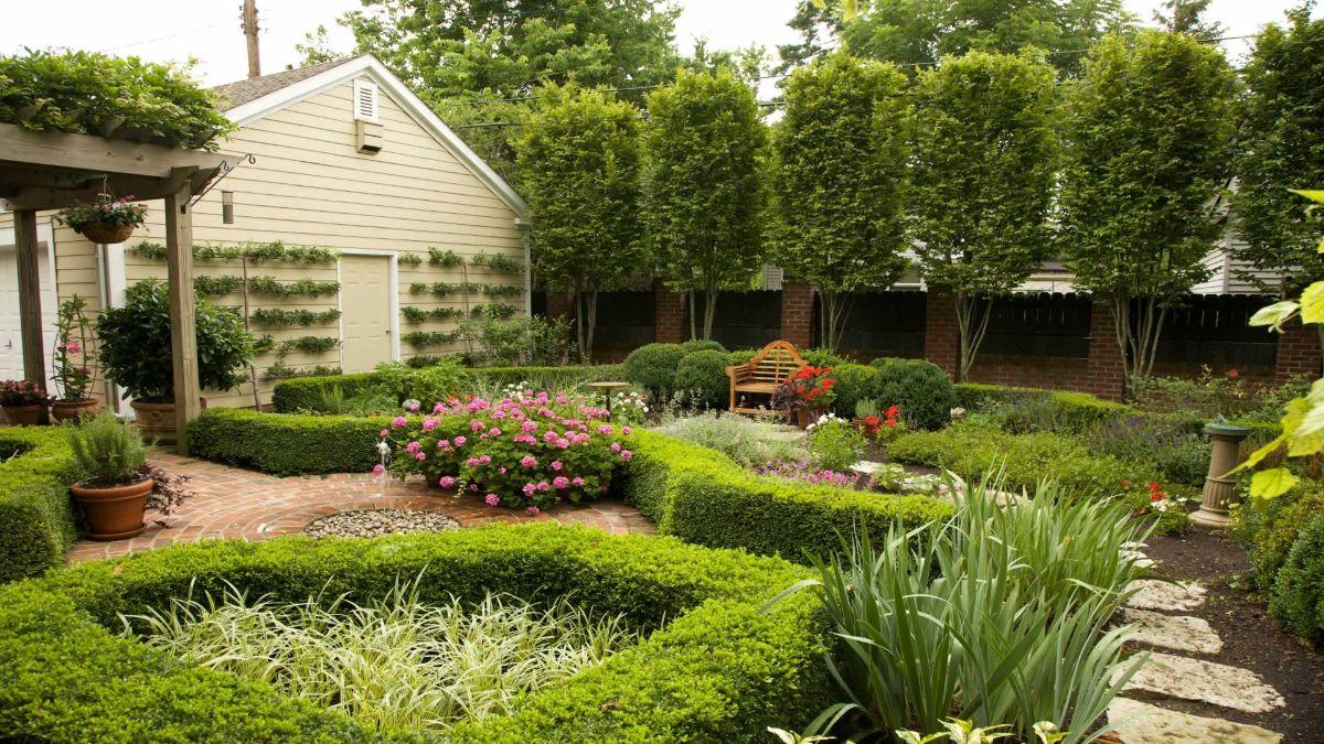 уютный дизайн садового участка