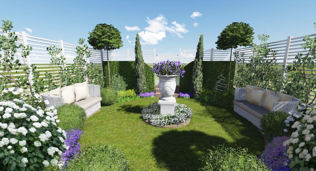 воздушный дизайн садового участка
